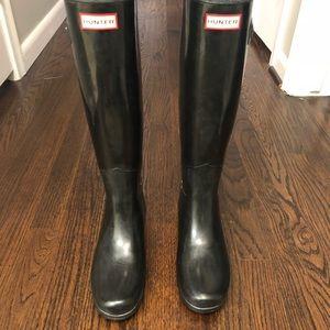 Hunter Shiny Rain Boots